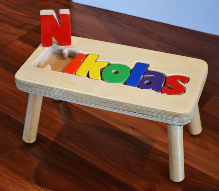 Personalized Name Puzzle Stool My Step Stool